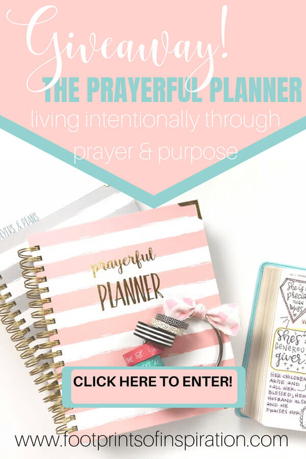 You need a good all-around day planner that will help you work efficiently, set goals according to God's will, keep you focused on the task at hand, and incorporate your prayer life into it! Check out the beautiful Prayerful Planner and get 10% off your order.