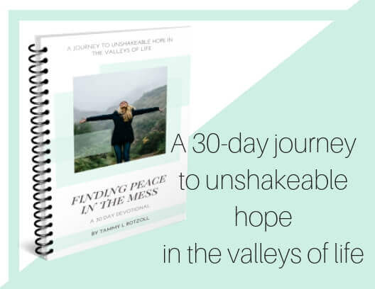 A 30-day journey to unshakeable hope in the valleys of life. #peace #hope #joy #peaceinthemess #godisgood #biblestudy #devotional #devotionals #30daydevotionals