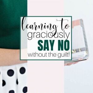 Are you trying to be everything for everyone? Do you find it hard to say no and are constantly stressed out by everything you have on your to-do list? Discover how to graciously say no, take back your life, and have time for what's important. #footprintsofinspiration #christianliving #marriage #relationships #christianlife #inspirationforwomen #timemanagementips