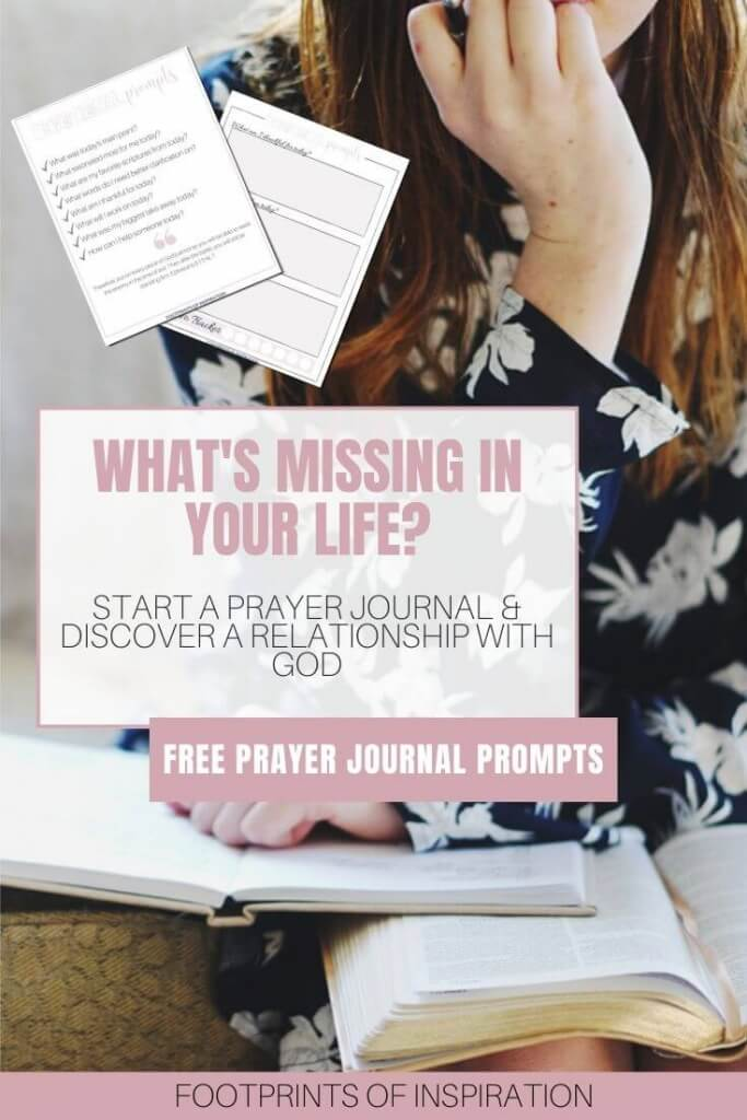 Learn how easy it is to start a prayer journal and start a relationship with God. Including free devotional prompts