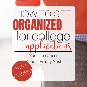Getting ready for college is an incredibly daunting task. Learn how easy it is to get organized and ease the pain of letting me go. #footprintsofinspiration #almostemptynest #family #collegeapplications #tips #parenting #backtoschool #preparingforcollege #howtoprepareforcollege