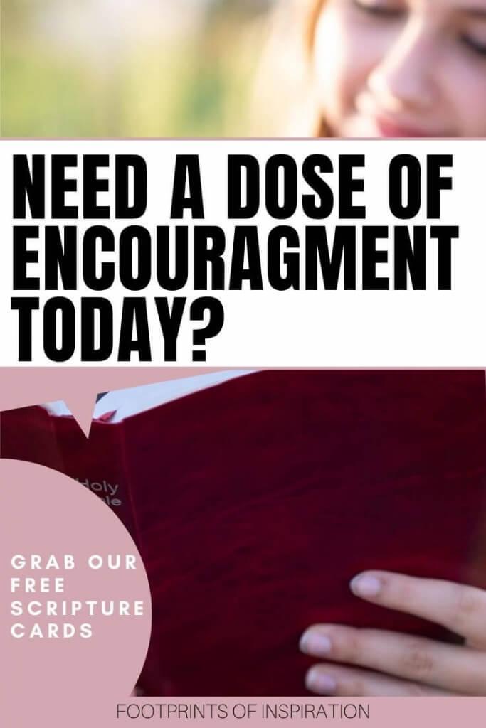 Free encouragement printable scripture cards