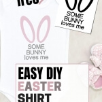 Create this easy DIY Easter shirt with the free SVG cut File