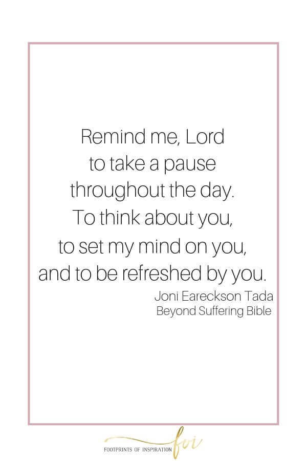 Remind me, Lord, to think about you throughout the day