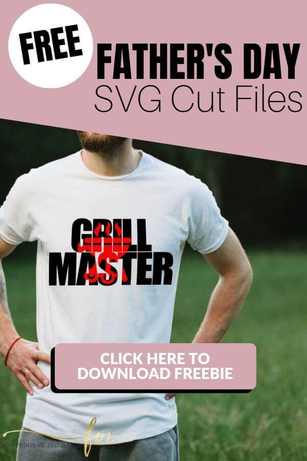 Free Father's Day SVG Cut File with Grill Master T-shirts