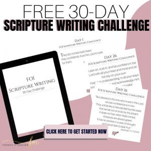 Free 30-Day Scripture Writing Challenge