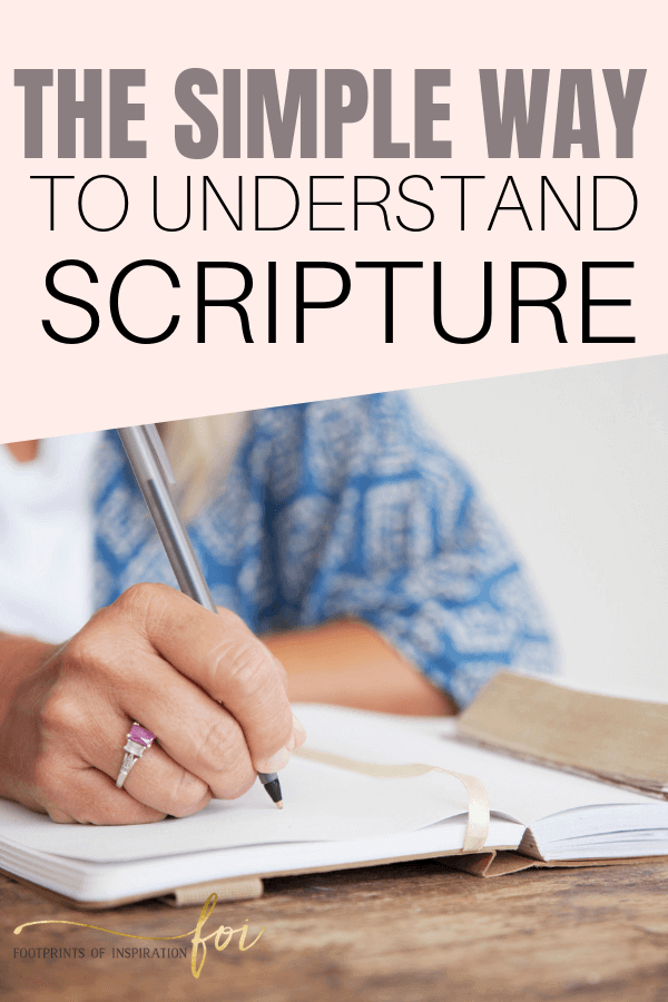 The simple way to understand scripture