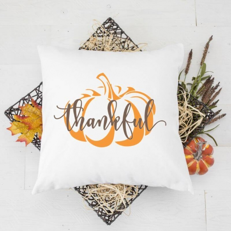 Easy DIY Fall Throw Pillows with Free SVG Cut Files
