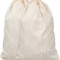 2 Pack - Extra Large Cotton Laundry Bags