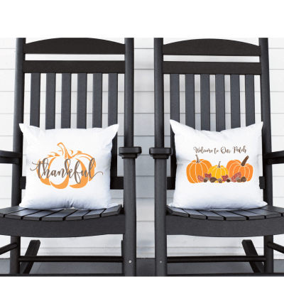 EASY DIY FALL AND THANKSGIVING PILLOWS WITH FREE SVG FILE