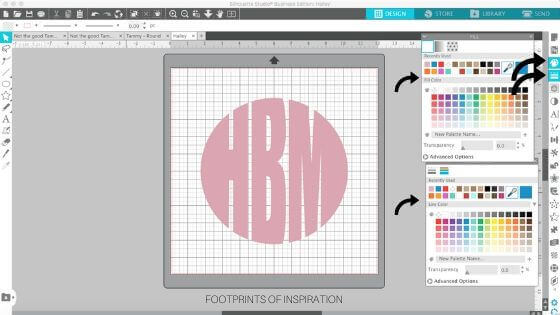 Learn to create a circle monogram in minutes using Silhouette Studio