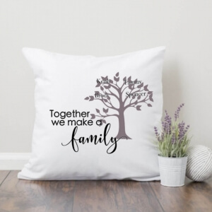 Together we make a Family Pillow with Free SVG Cut File