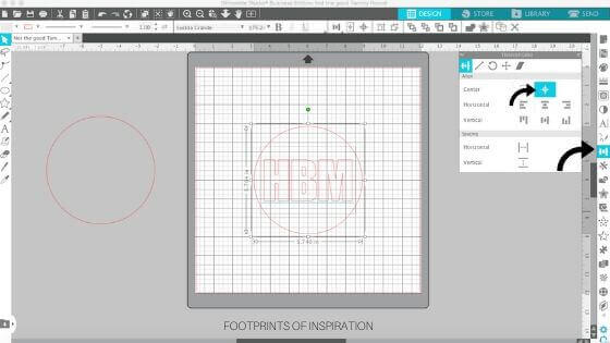 Learn how to easily create a circle monogram in minutes using Silhouette Studio