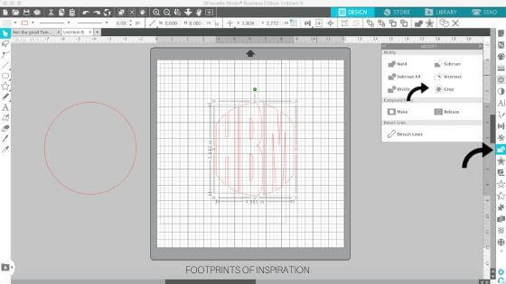 Learn to easily create a circle monogram in minutes using Silhouette Studio.