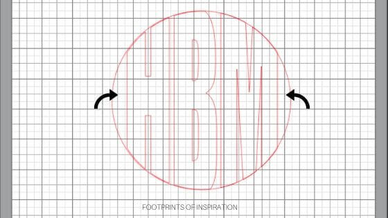 Learn how to easily create a circle monogram using Silhouette Studio