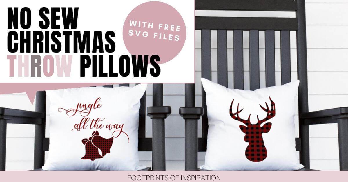Easy No-Sew Christmas Pillows