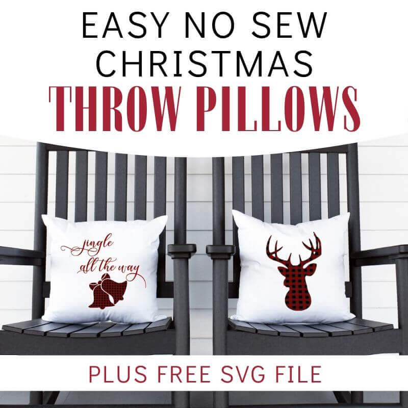 Easy No Sew Christmas Pillows