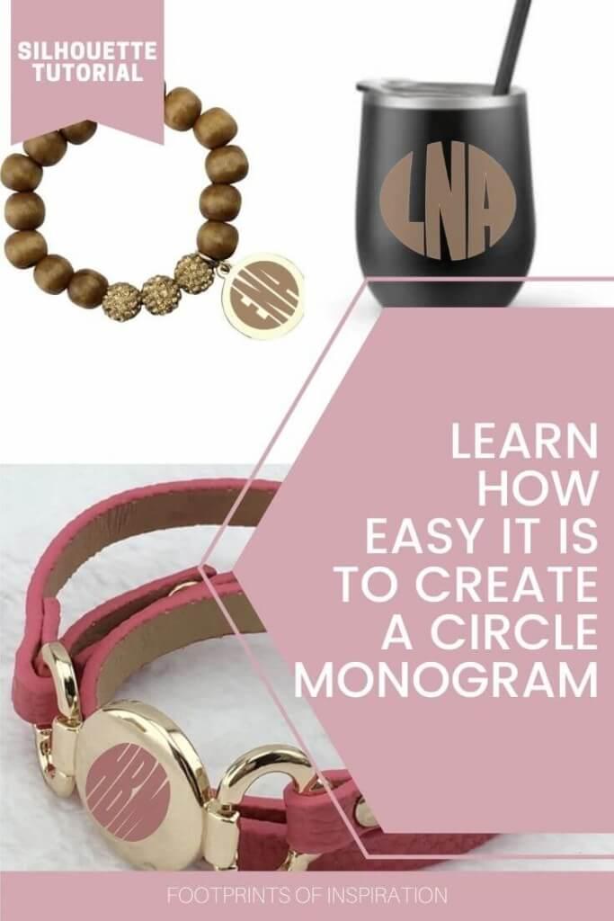 Create an Easy Circle Monogram in Silhouette Studio