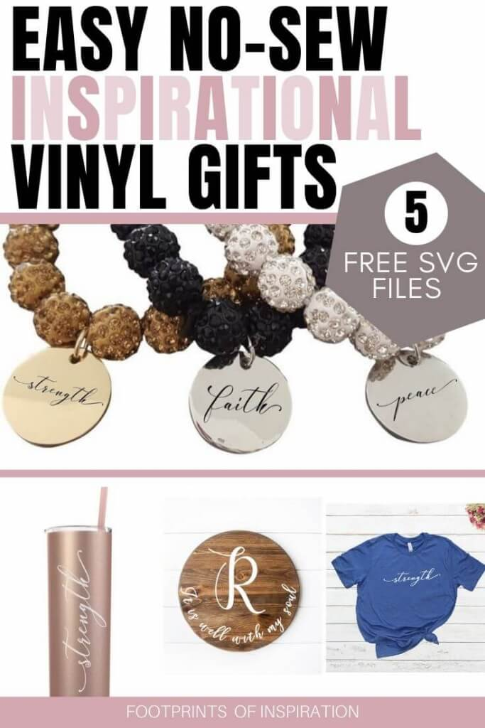 Easy Inspirational Vinyl gifts you can create in less than 30 minutes