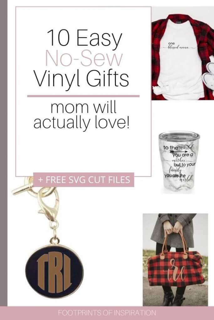 Easy No Sew Vinyl Gifts for Mom with Free Svg Cut Files