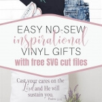 Create these easy inspirational vinyl gifts in less than 30 minutes with the free SVG cut files