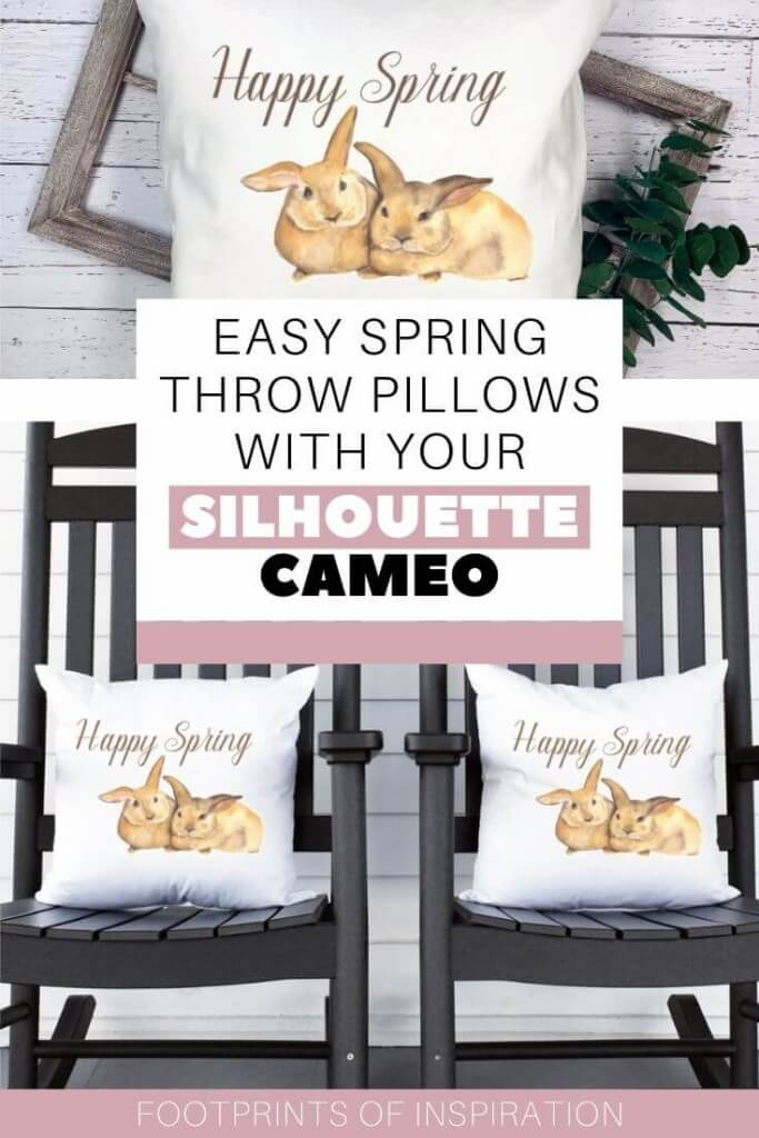 Create these easy spring throw pillows using your Silhouette Cameo.