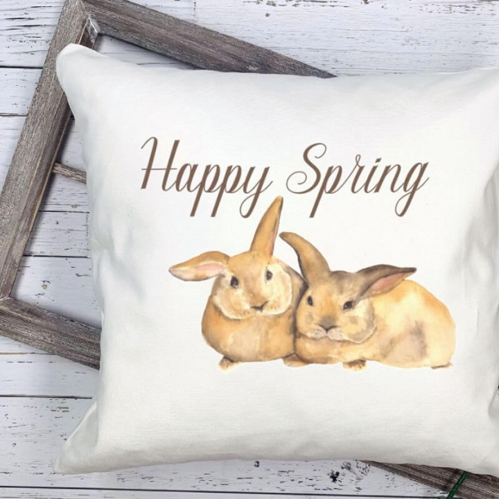Create these easy spring throw pillows using your Silhouette Cameo