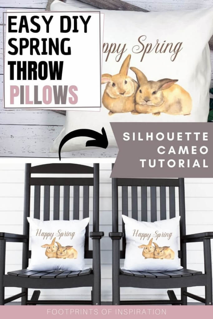 Create these cute DIY spring throw pillows using your Silhouette Cameo