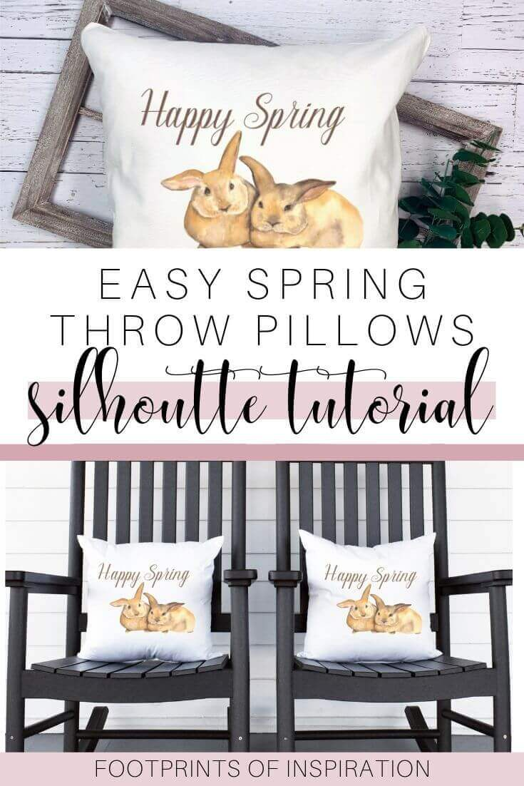 DIY Spring Throw Pillows with Your Silhouette Cameo