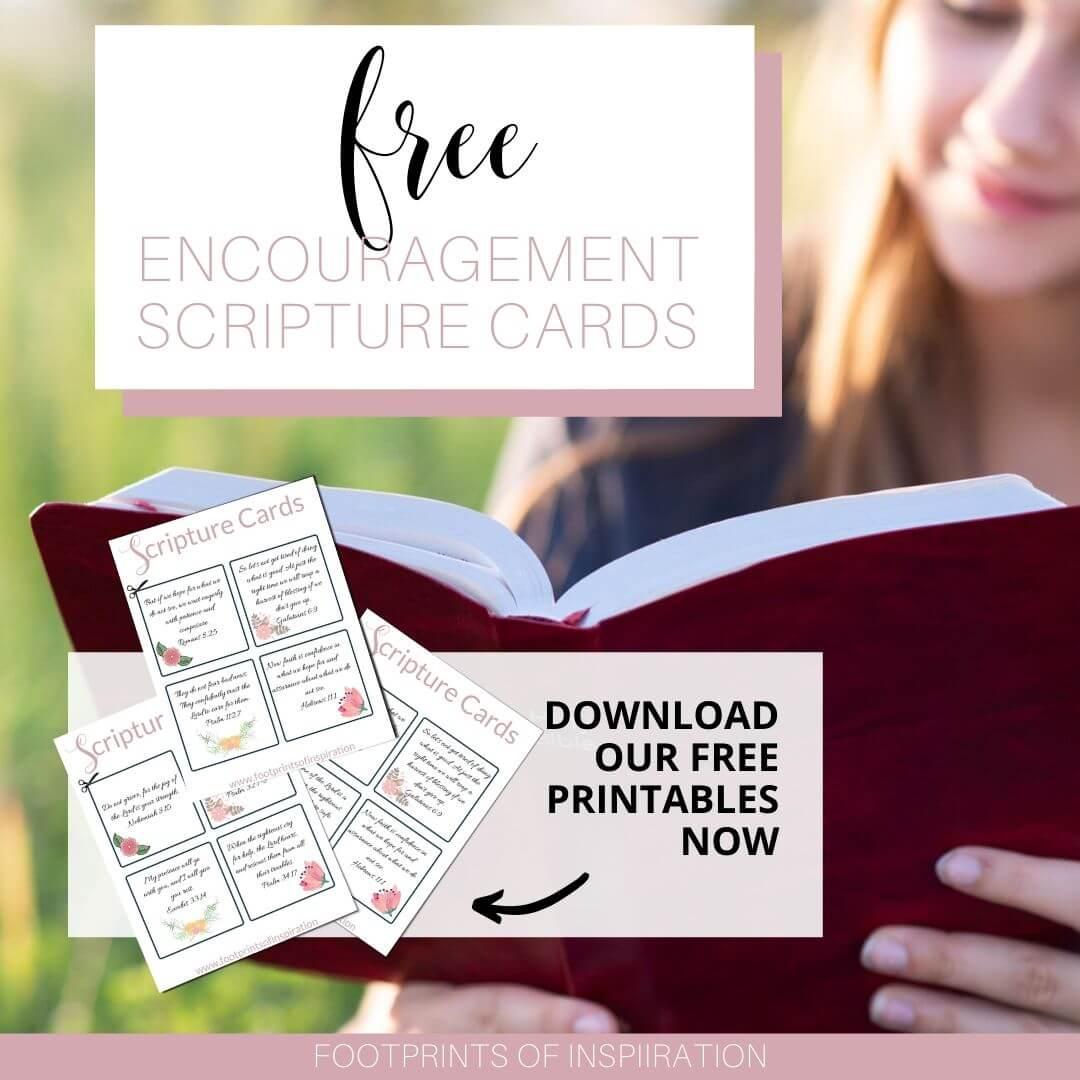 Free Printable Encouragement Scripture Cards