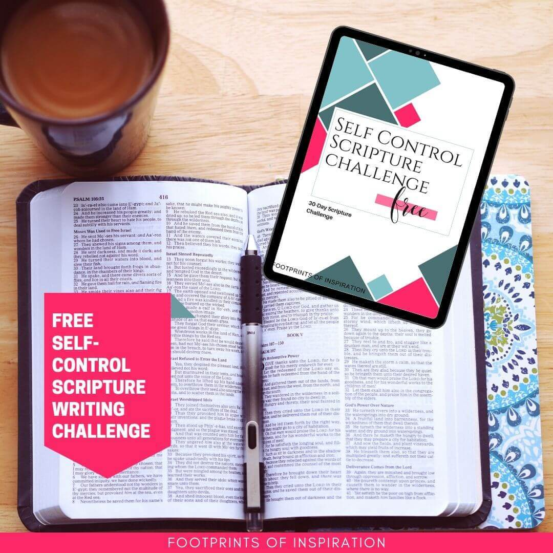Join the Free Self Control Scripture Writing Challenge