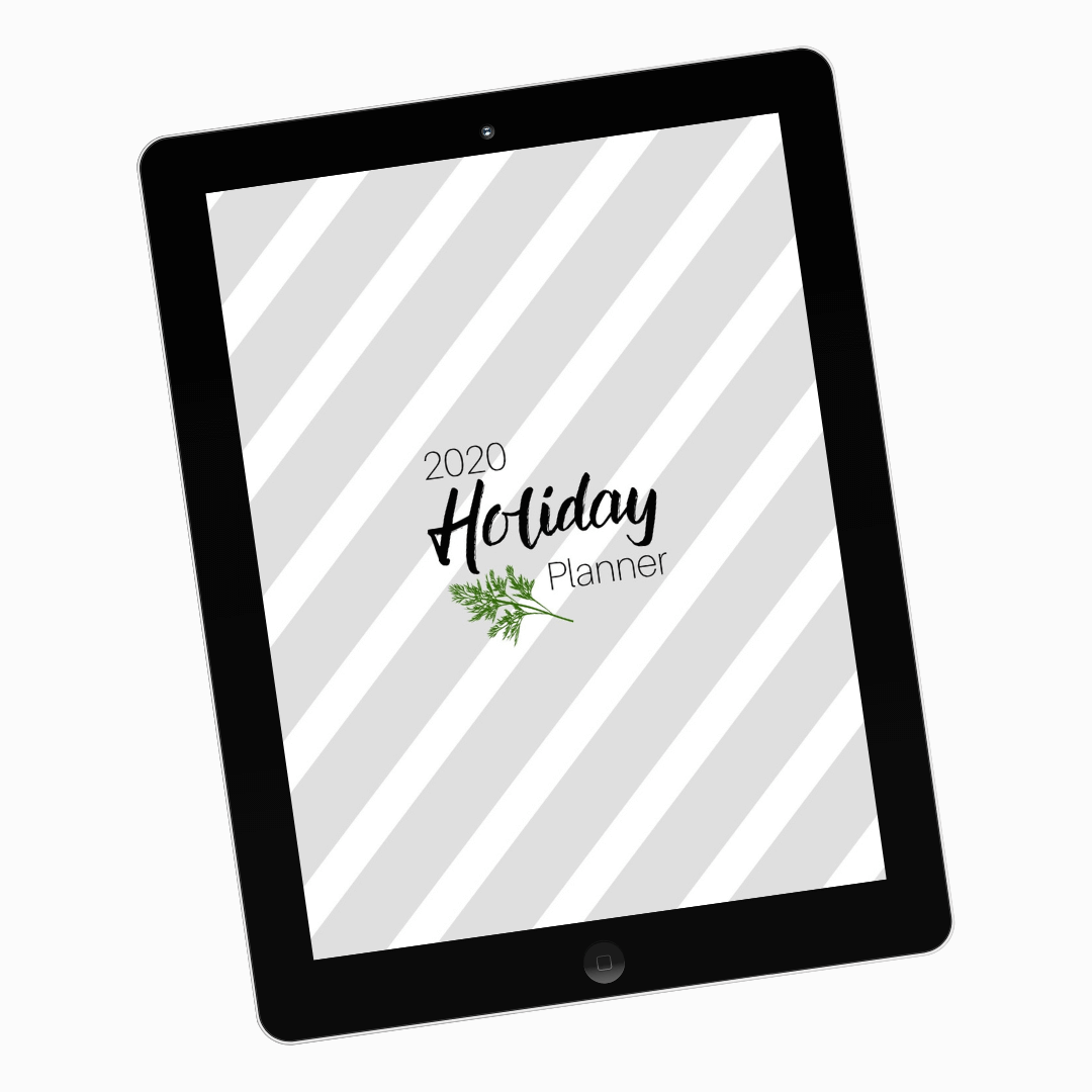 Fillable Holiday Planner