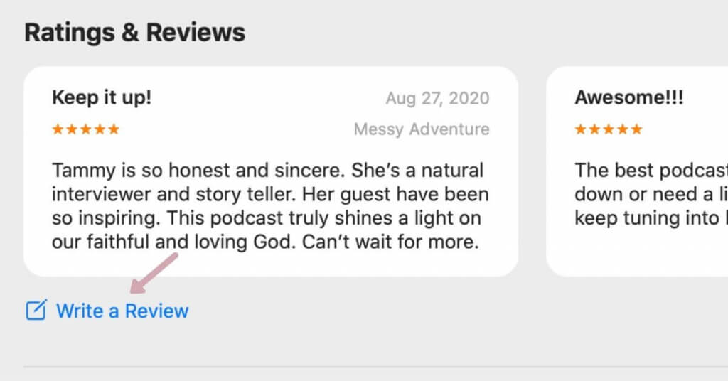 How to leave a review for A Faithful God Podcast. on I-Tunes.