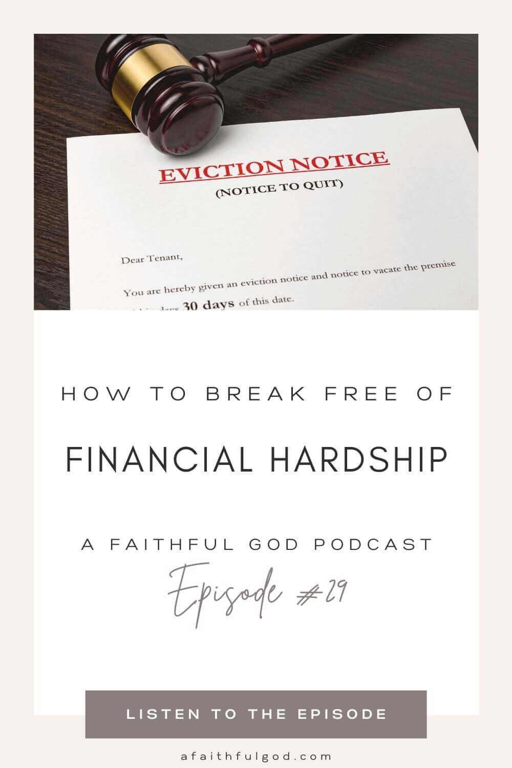 Finding Deliverance from Financial Hardship