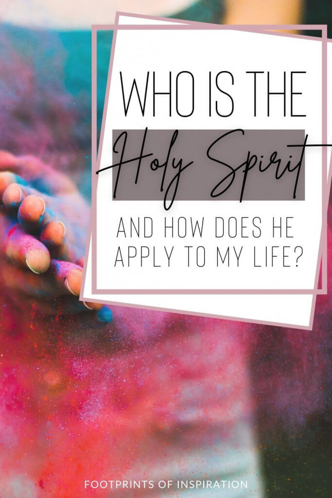 Uncover the power of the Holy Spirit and how He applies to your life. Learn how to find peace in the middle of your pain through the Spirit. #footprintsofinspiration #holyspirit #biblestudy #scripture #prayerjournal #dailywalk #dailyinspiration