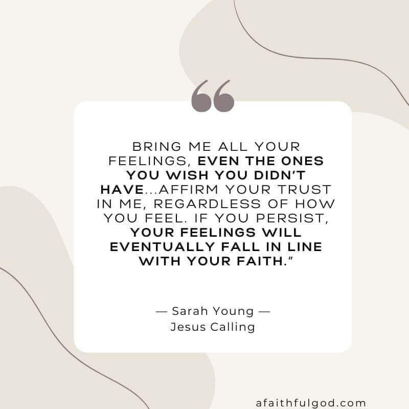 Take your feelings of hurt and unforgiveness to the Lord.